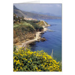 Italy, Sicily. The north coast of Sicily in Card
