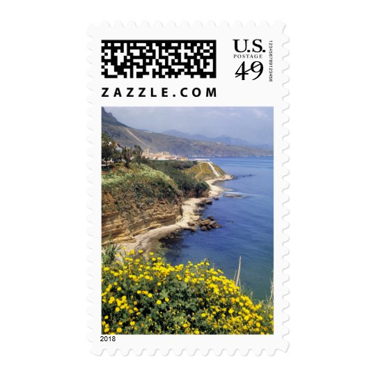 Italy, Sicily. The north coast of Sicily in Postage
