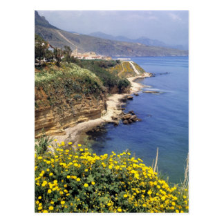Italy, Sicily. The north coast of Sicily in Postcard