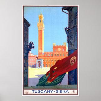 Italy Siena Vintage Travel Poster Restored