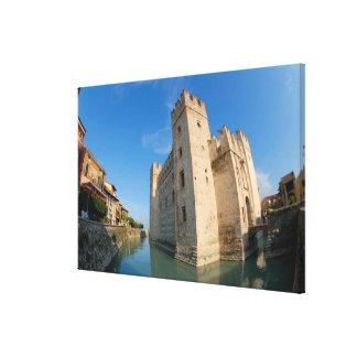 Italy, Sirmione, Lake Garda, the Scaliger Canvas Print