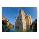 Italy, Sirmione, Lake Garda, the Scaliger Greeting Card