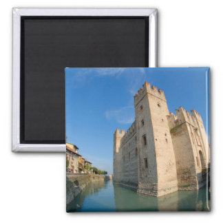 Italy, Sirmione, Lake Garda, the Scaliger Refrigerator Magnet