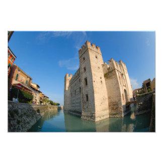 Italy, Sirmione, Lake Garda, the Scaliger Photo Print