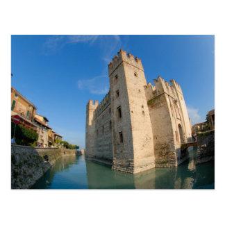Italy, Sirmione, Lake Garda, the Scaliger Postcard