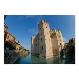 Italy, Sirmione, Lake Garda, the Scaliger Poster