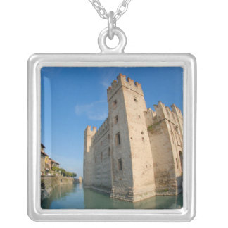 Italy, Sirmione, Lake Garda, the Scaliger Silver Plated Necklace