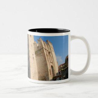 Italy, Sirmione, Lake Garda, the Scaliger Two-Tone Coffee Mug