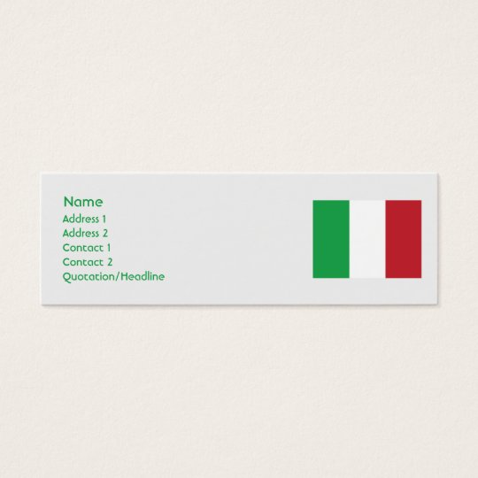Italy - Skinny Mini Business Card