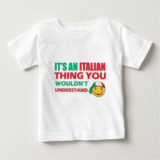 Italy  Smiley Designs Baby T-Shirt