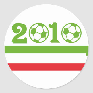 Italy soccer 2010 classic round sticker