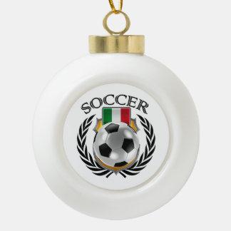 Italy Soccer 2016 Fan Gear Ceramic Ball Christmas Ornament