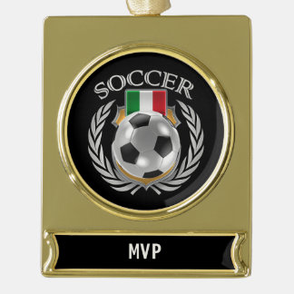 Italy Soccer 2016 Fan Gear Gold Plated Banner Ornament