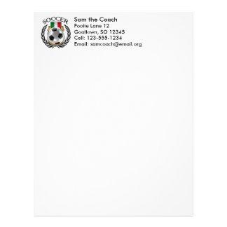 Italy Soccer 2016 Fan Gear Letterhead