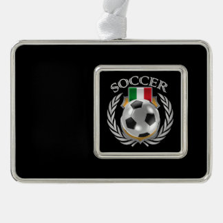 Italy Soccer 2016 Fan Gear Silver Plated Framed Ornament