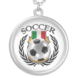 Italy Soccer 2016 Fan Gear Silver Plated Necklace