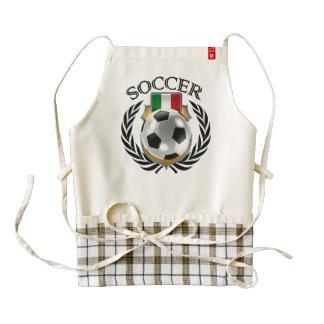Italy Soccer 2016 Fan Gear Zazzle HEART Apron