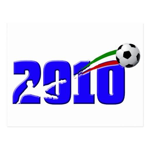 Italy soccer Azzurri 2010 Logo Postcard