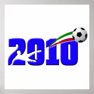 Italy soccer Azzurri 2010 Logo Poster