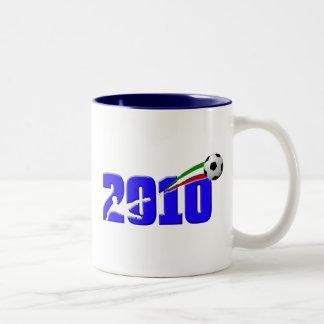 Italy soccer Azzurri 2010 Logo Two-Tone Coffee Mug