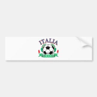 Italy soccer ball designs car bumper sticker