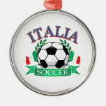 Italy soccer ball designs christmas tree ornament
