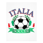 Italy soccer ball designs letterhead