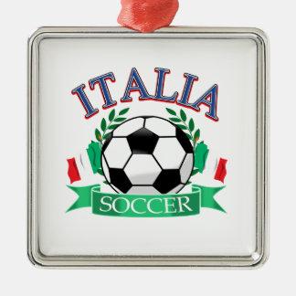 Italy soccer ball designs metal ornament
