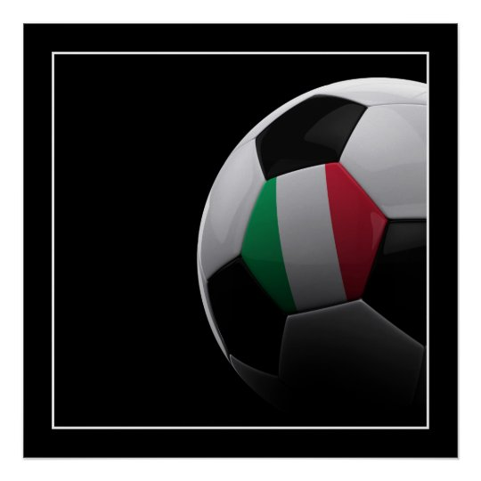 Italy Soccer Ball - POSTER