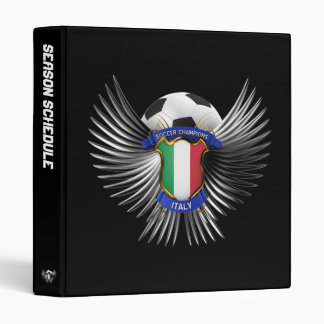 Italy Soccer Champions Binder