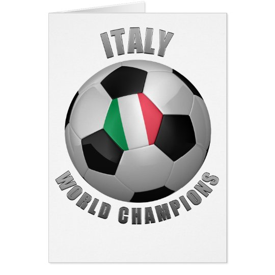 ITALY SOCCER CHAMPIONS CARD