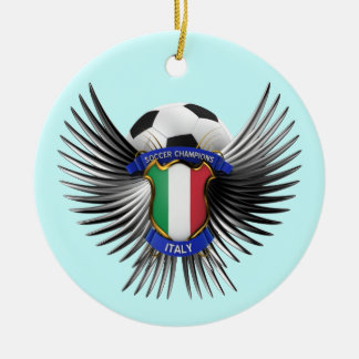 Italy Soccer Champions Ceramic Ornament