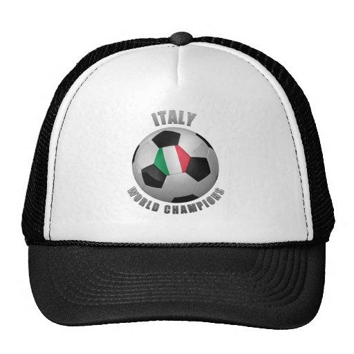 ITALY SOCCER CHAMPIONS HATS