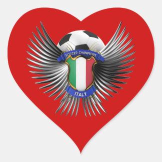 Italy Soccer Champions Heart Sticker