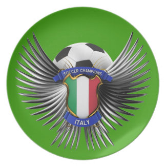 Italy Soccer Champions Party Plate