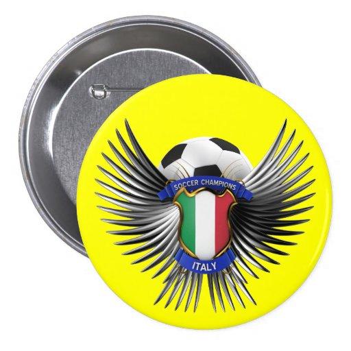 Italy Soccer Champions Pins
