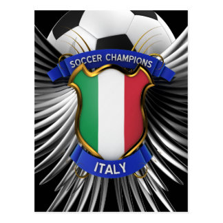Italy Soccer Champions Postcard