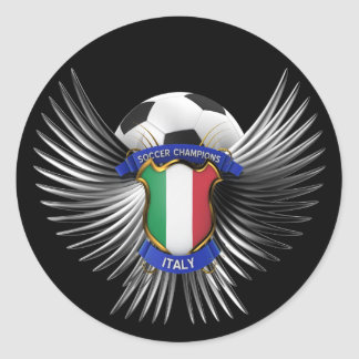 Italy Soccer Champions Round Sticker