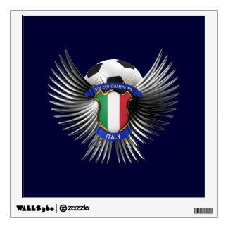 Italy Soccer Champions Wall Sticker