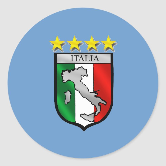 Italy Soccer Classic Round Sticker