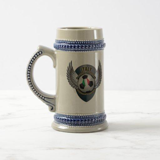 Italy Soccer Crest Coffee Mugs