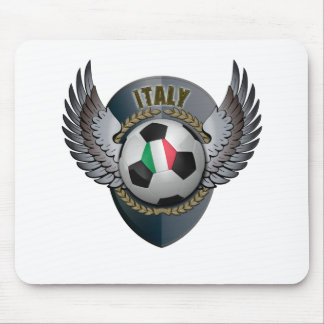 Italy Soccer Crest Mouse Pad