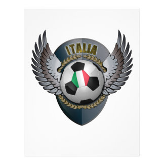 Italy Soccer Crest Personalized Flyer