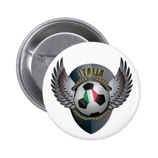 Italy Soccer Crest Pinback Button