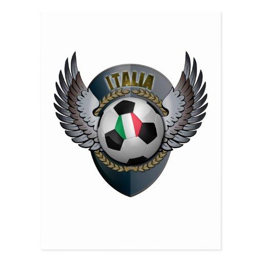 Italy Soccer Crest Postcard