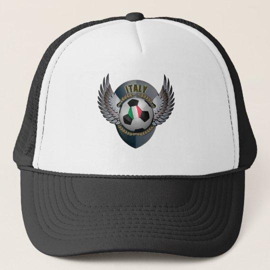 Italy Soccer Crest Trucker Hat