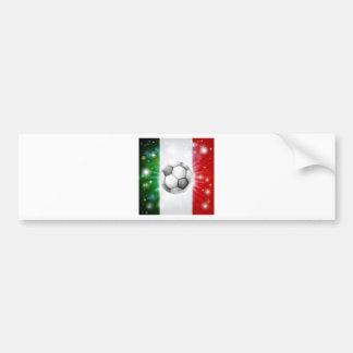 Italy soccer flag car bumper sticker