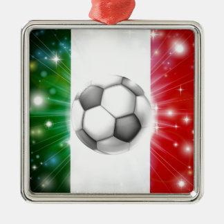 Italy soccer flag metal ornament
