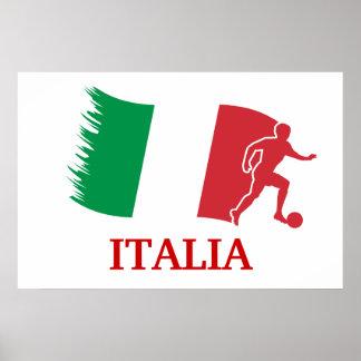 Italy Soccer Flag Poster