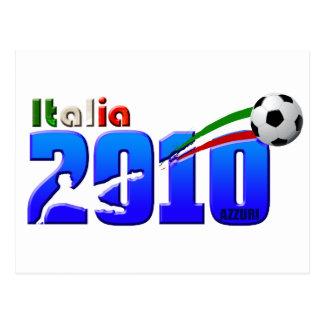 Italy Soccer Italia 2010 logo Postcard